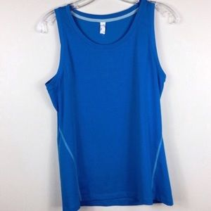 Lucy blue workout tank top